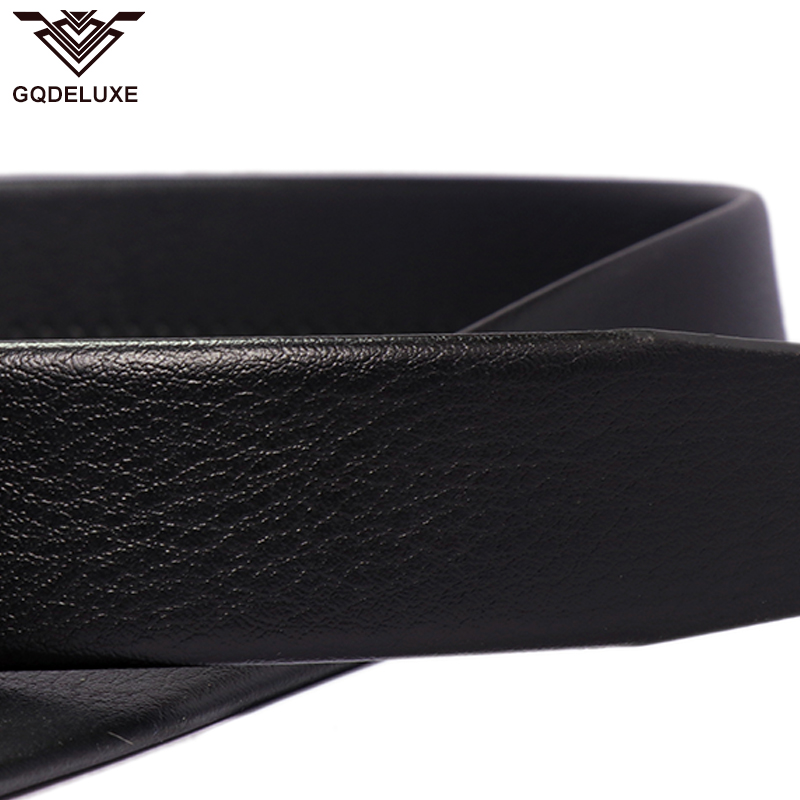 Men folded belt for automatic buckle clutch microfiber leather 3 5cm width no buckle black scratch proof top quality guarantee in Men 39 s Belts from Apparel Accessories