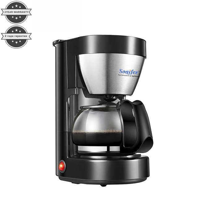 0.65L Electric Drip Coffee Maker Household Coffee Machine 6 Cup Tea Coffee Pot 220V Sonifer 1