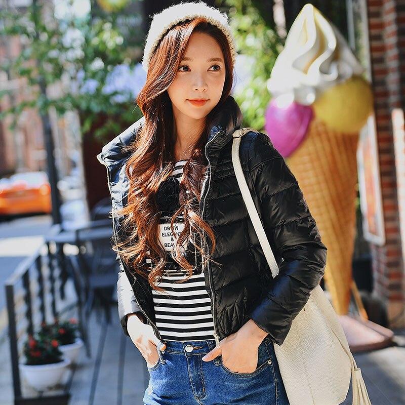 Dabuwawa 새로운 여성 짧은 코트 겨울 블랙 windproof thicken down jacket 스탠드 칼라 duck down streetwear jacket d18ddw040-에서다운 코트부터 여성 의류 의  그룹 3