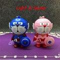 Мстители модели игрушка фигура капитан америка потому Doraemon из светодиодов автомобиль брелок с легкой звук из светодиодов освещение брелок детские игрушки подарок