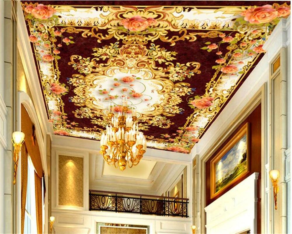 beibehang Luxury Fashion Silk Cloth Wallpaper European Individuality Beauty Zenith Mural Floor papel de parede 3d papier peint in Wallpapers from Home Improvement
