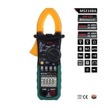 MS2108A Multímetro Digital Clamp Meter Amper Pinzas Pinza de Corriente AC/DC Tensión Corriente Resistencia Capacitor Tester