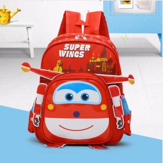 New Super Wings Cute Kid School Bags Cartoon Character 3D Style Children Backpacks Kindergarten Girls Boys Baby Backpack