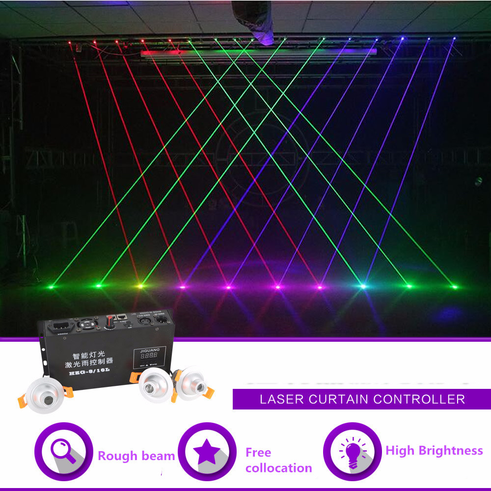 Sharelife Mini Free Collocation Red Green Blue Beam Projector Laser Curtain Controller DMX DJ Party Club Show Stage Lighting