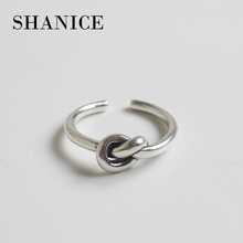 SHANICE Charm Jewelry 925 Sterling Silver Open Ring For Women One Knot Simple Sliver Rings Fashion Jewelry For Girl