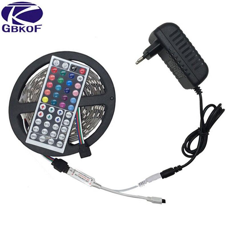 10 mt 5 mt 3528 5050 RGB LED streifen licht nicht wasserdicht led licht 10 mt flexible rgb diode led band set + Fernbedienung + Power Adapter