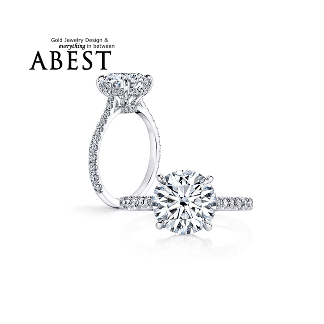 711fd1fc1a Promotion Platinum Plated Ring 925 Sterling Silver 2 Carat SONA Synthetic  Created Diamond Wedding Rings Women