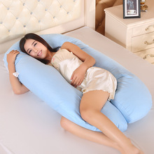 Blue Pillows Pregnancy Pregnant Women New Sleeping Support Pillow Side Sleepers Bedding Body Cotton Pillowcase U Shape Maternity