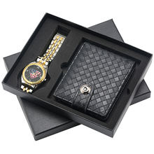 Keller & Weber Stainless Steel Men Wristwatch American Diamond Pattern Quartz Watches Wallet Gift Set Relojes цена и фото