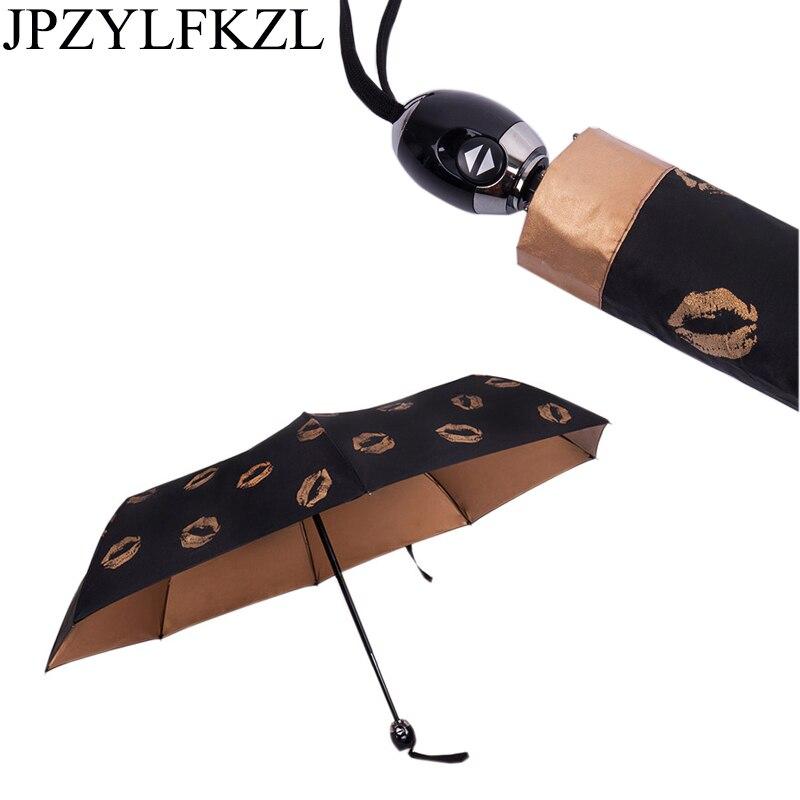 Folding Automatic Umbrella Rain Women Wind Resistant Auto Luxury Big Windproof Umbrellas Rain For Men Black Coating 50RR052