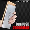 Externe Dual USB 20000 mah Banco de Potencia de emergencia Portátil Cargador de emergencia cargador de batería de 20000 mah de energía de Reserva Powerbank