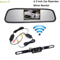 Cls 4 3 LCD Car Rear View Mirror Monitor Wireless Night Vision Backup Reverse Camera Aug