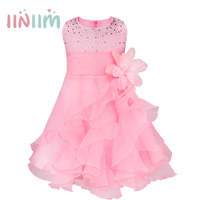 Kids Dresses For Girls 2017 Summer Style Gold Sequins Tutu Event Party Dress For Baby Girls