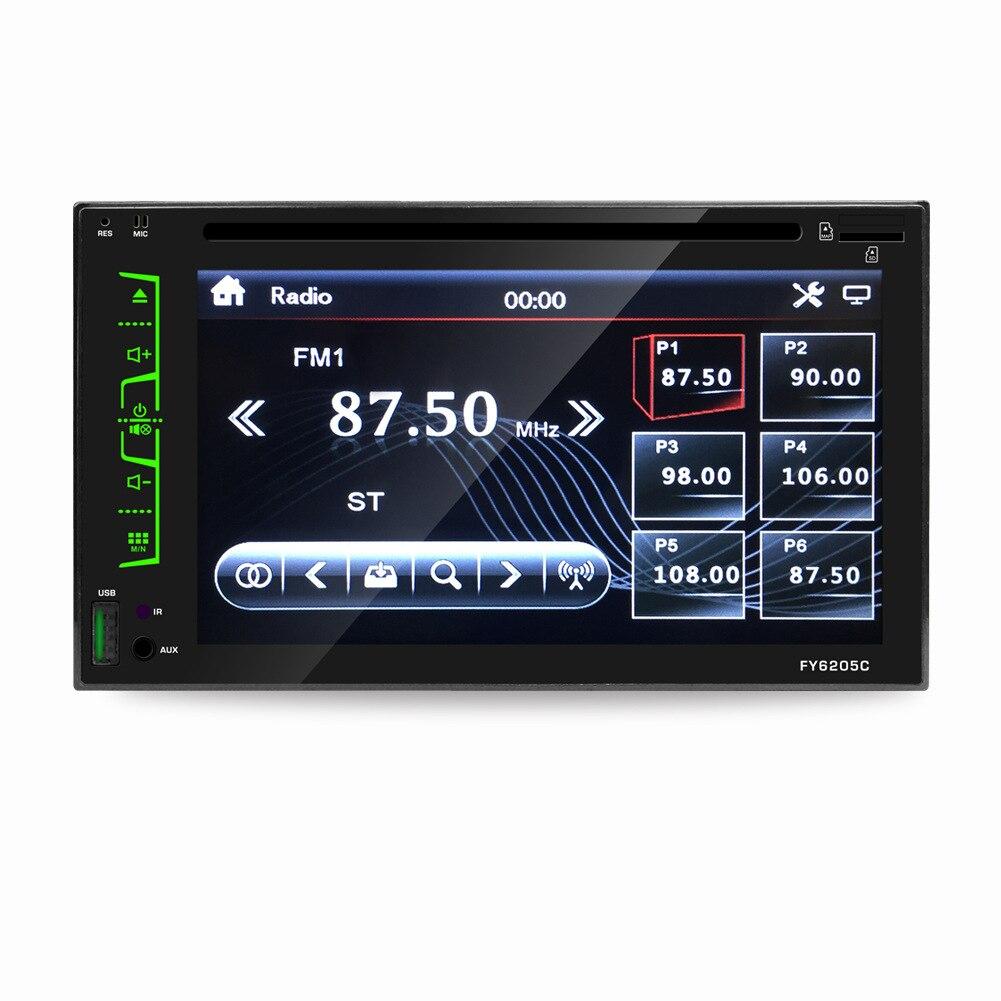6.2 écran tactile universel voiture DVD Radio lecteur vidéo 1080 P HD lecteur USB MP4/MP5 sept couleur modulation + télécommande