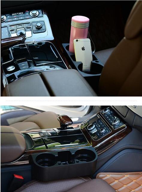 Acessórios do carro Suporte de Copo Do Carro Bebida Titular Do Telefone Sofá Portátil Lacuna Assento de Carro Multifunções Armazenamento Organizador Estiva Tidying