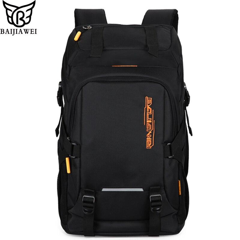 4ae2a1c00cff BAIJIAWEI 2019 новые мужские рюкзаки большой вместимости походный рюкзак  для ноутбука Сумка Повседневный повседневный рюкзак деловая