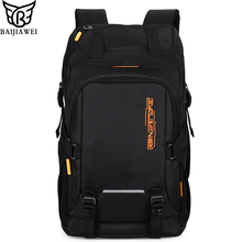 BAIJIAWEI 2019 New Men's Backpacks Big Capacity Travel Backpack Laptop Bag Casual Daily Backpack Business Bag Waterproof Bags