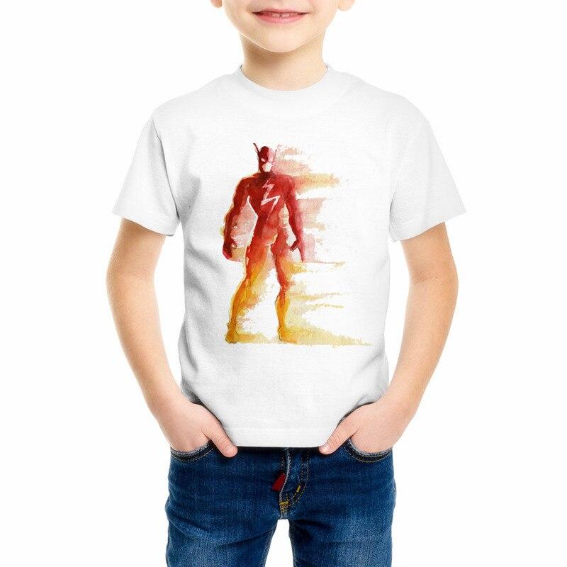 The Flash American big hero superman Children's t shirts 3D cartoon Iron Man/Hulk Giant/Captain America/Spiderman t-shirt C17-39 cartoon the hulk shaped plastic mask green