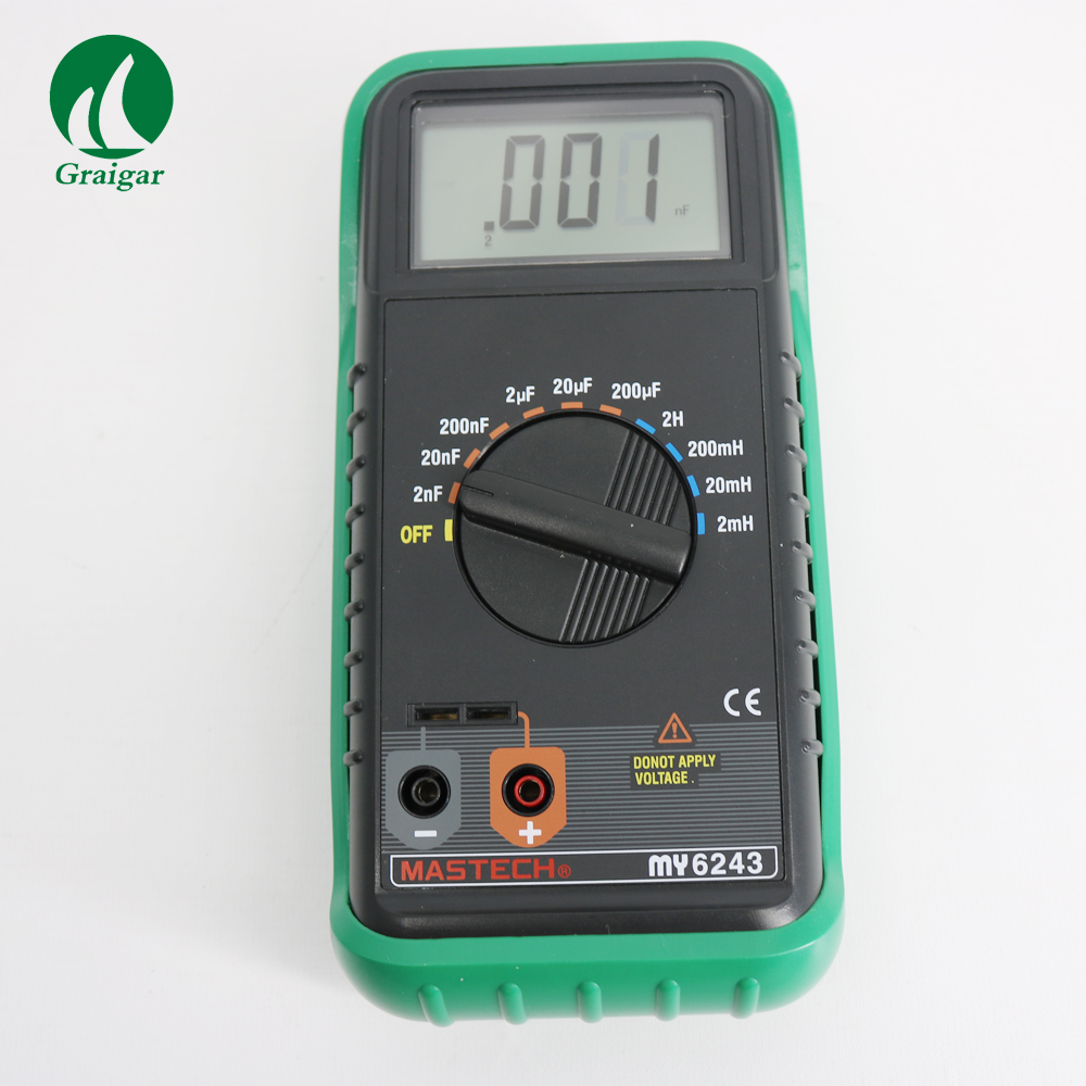 MASTECH MY6243 Digital LC C/L Meter Inductance Capacitance Tester 21 mm maximum LCD display freeshipping best sell lc100 a digital lcd high precision inductance capacitance l c meter