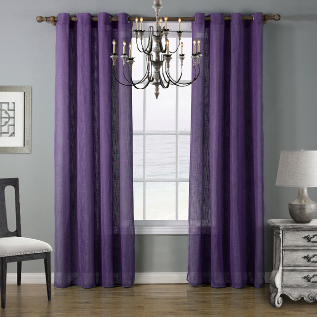 Curtains Ideas bedroom drapes and curtains : Aliexpress.com : Buy SunnyRain 1 Piece Linen Cotton Translucidusd ...
