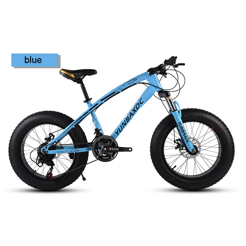 Snowy Mountain Bike 20 Inches 27 Speed 4.0 Inches Tire High Carbon Steel Frame For Snow Riding