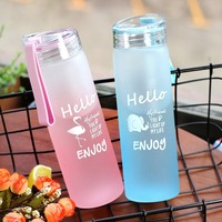 Sports Water Bottel with and cover lid Milk Coffee Tea Travelling Climbing Cycling Water bottle Glass Drinkware BPA Free gift Water Bottles     -