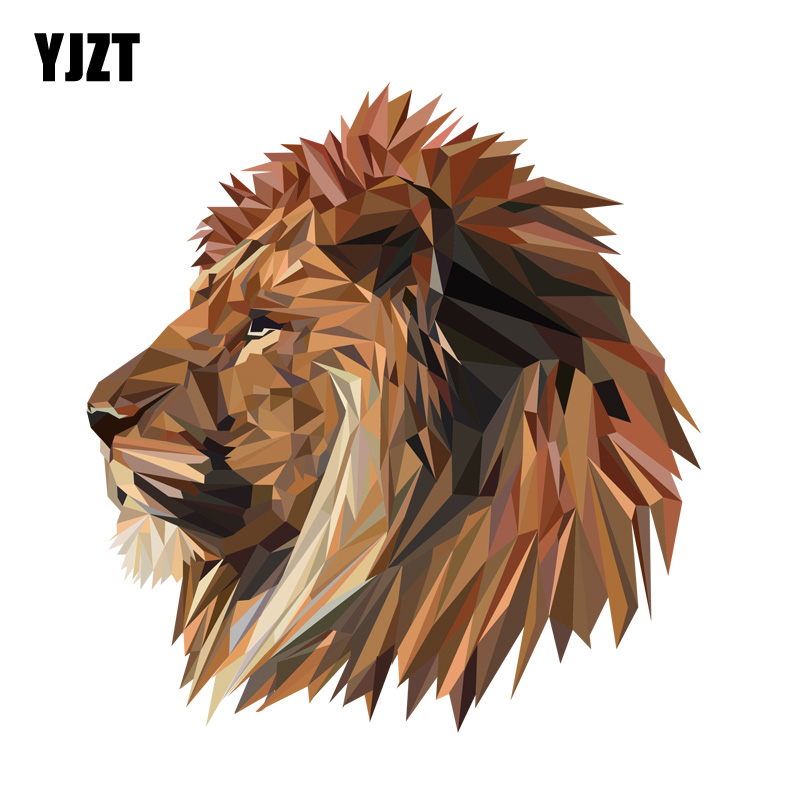 YJZT 15.5CM*16.4CM Lion Head Decal PVC Motorcycle Car Sticker 11-00628(China)