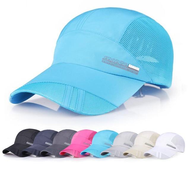 Outdoor Running Caps Mesh Breathable Men Baseball Golf Cap Summer  Adjustable Travel Sun Hat Sports Caps for Men Women peaked cap 66e28ff3456