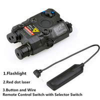 Hunting Spotlight Weapon Light Tactical Airsoft Light Led Laser IR Infrared Military With Red Laser Red