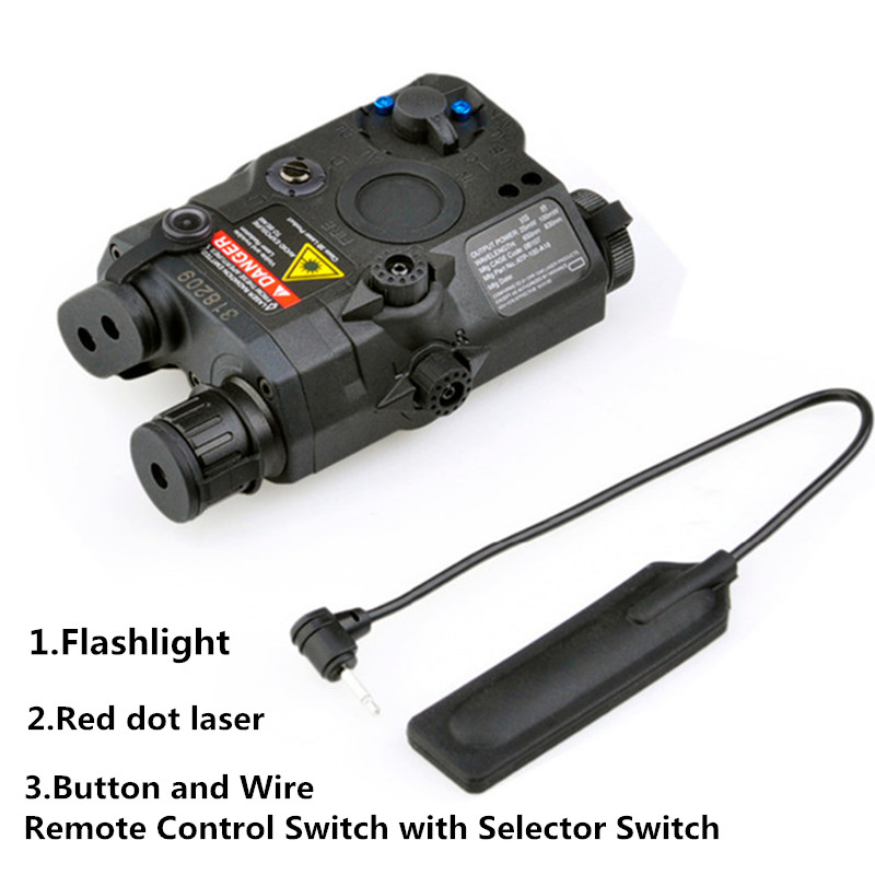 Hunting Element Airsoft Spotlight Weapon Guns Light Tactical Flashlight Military Red Dot Laser Pistol Lanterna Rifle Light wipson lanterna airsoft led light tactical kit includes la 5 peq 15