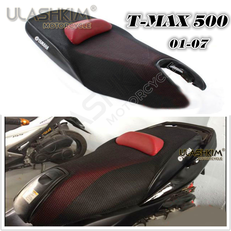 3D 7mm Sunscreen Cushion Cover Modified T-Max Seat Cover Heat Insulation Cushion Cover for Yamaha Tmax500 2001-2007