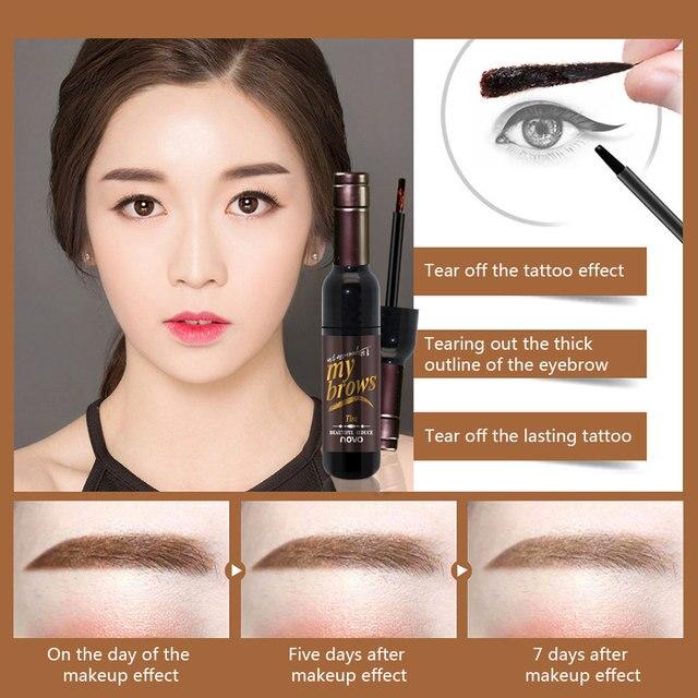Dighealth Eyebrow Dye Makeup Tools Peel Off Eyebrow Stencil Long Lasting Natural Waterproof Eyebrow Gel Tint Tattoo Mascara 5