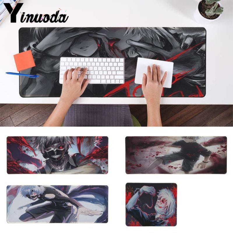 Yinuoda Vintage Cool Tokyo Ghoul Customized laptop Gaming mouse pad Size for 18x22cm 20x25cm 25x29cm 30x90cm 40x90cm