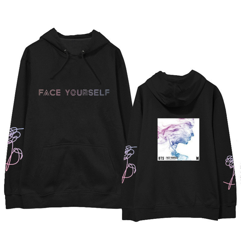 ONGSEONG Kpop BTS FACE YOURSELF 2018 New Album Hoodie Loose Hoodies Clothes Pullover Printed Long Sleeve Sweatshirts WY701
