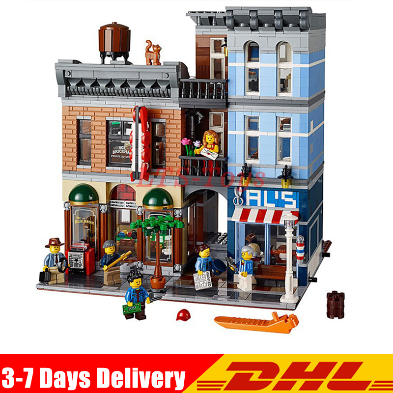 IN Stock DHL Lepin 15011 2262pcs The Detective's Office Set Avengers Set Assemble Building Blocks Compatible Legoed 10197 Toys new lepin 16009 1151pcs queen anne s revenge pirates of the caribbean building blocks set compatible legoed with 4195 children