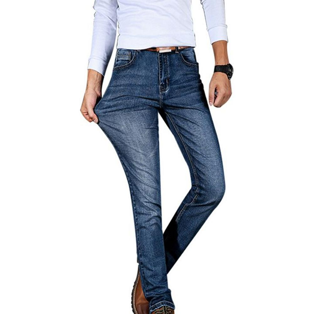 Men Skinny   Jeans   Slender Slim Fit Elastic Stretchy Denim Pants Waist Size 28-40 inch Causal Long Denim Trousers