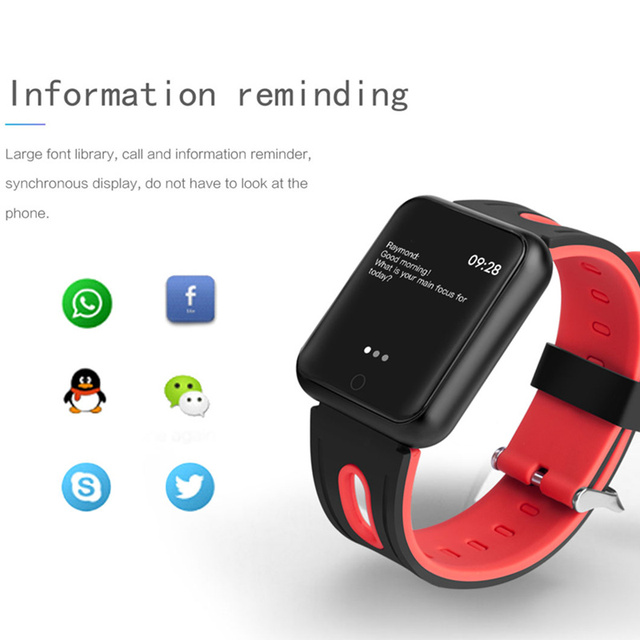 fitness bracelet watch P68 ip68 waterproof  for apple watch xiaomi  ios  Android with heart rate monitor smart band +earphone 3