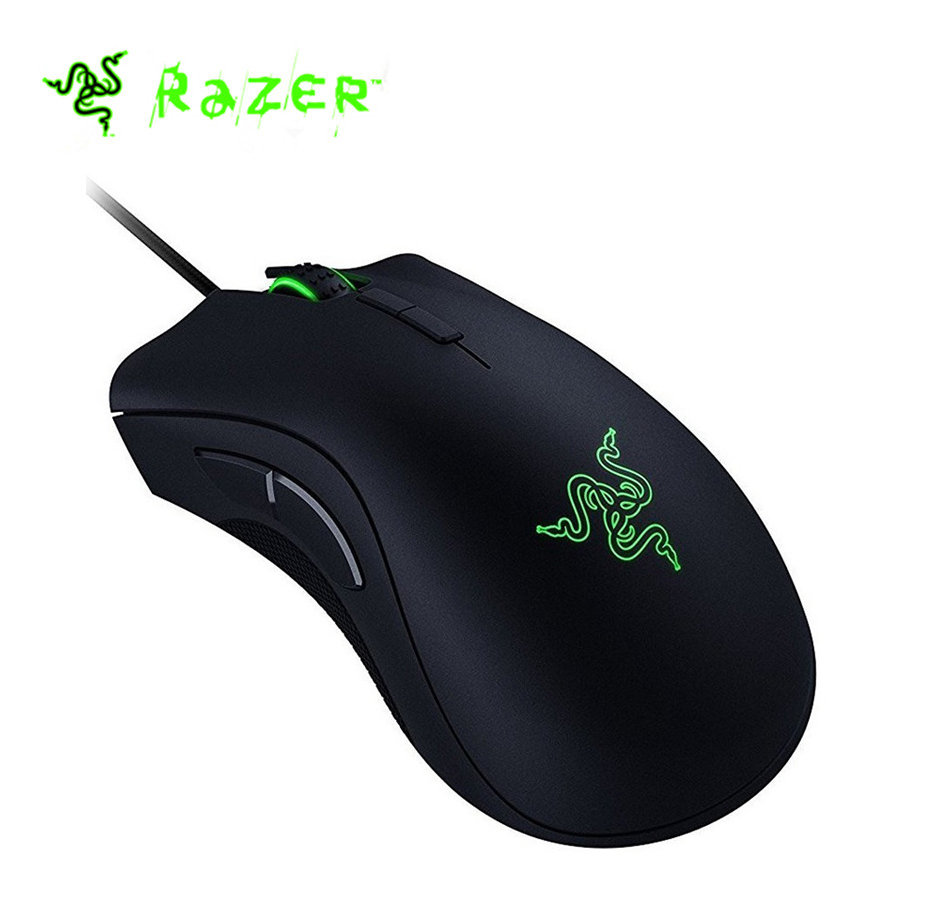 Nuovo Originale Razer DeathAdder Elite Wired Gaming Mouse 16000 dpi Sensore Ottico Ergonomico In Modo Indipendente Programmabile Gaming Mouse
