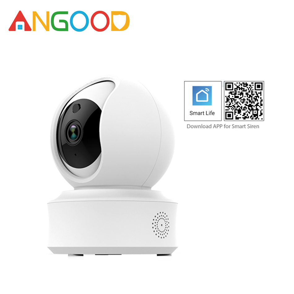 ANGOOD F7 Wifi Wireless Smart IP Camera 720P 1080P HD Security Camera Night Vision Detector Support