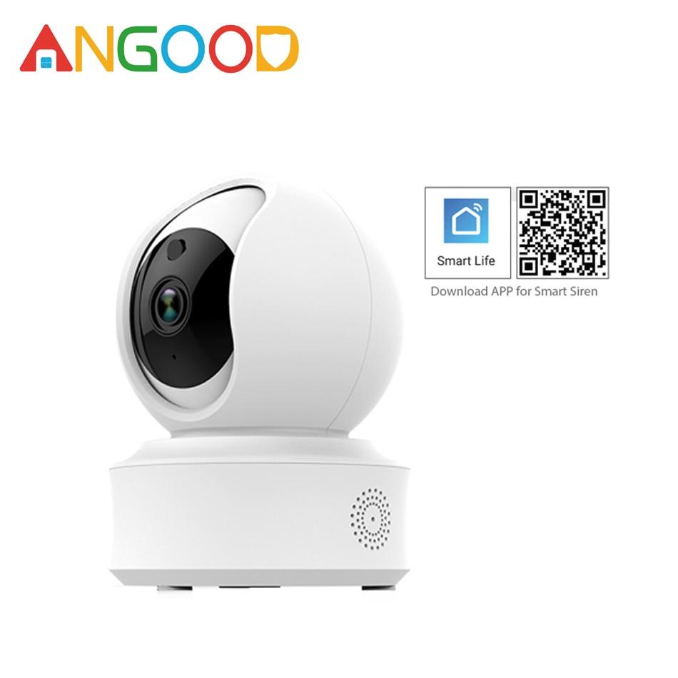 Caméra IP intelligente sans fil ANGOOD F7 Wifi 720 P 1080 P caméra de sécurité HD détecteur de Vision nocturne Support Tuya Smart Life Appa/Alexa-in Caméras de surveillance from Sécurité et Protection on AliExpress - 11.11_Double 11_Singles' Day 1