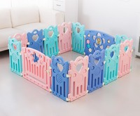 Colorful Indoor Baby Learn Walking Crawling Protection Safe Fence Mix Color Child Kids Game Activity Play Fence