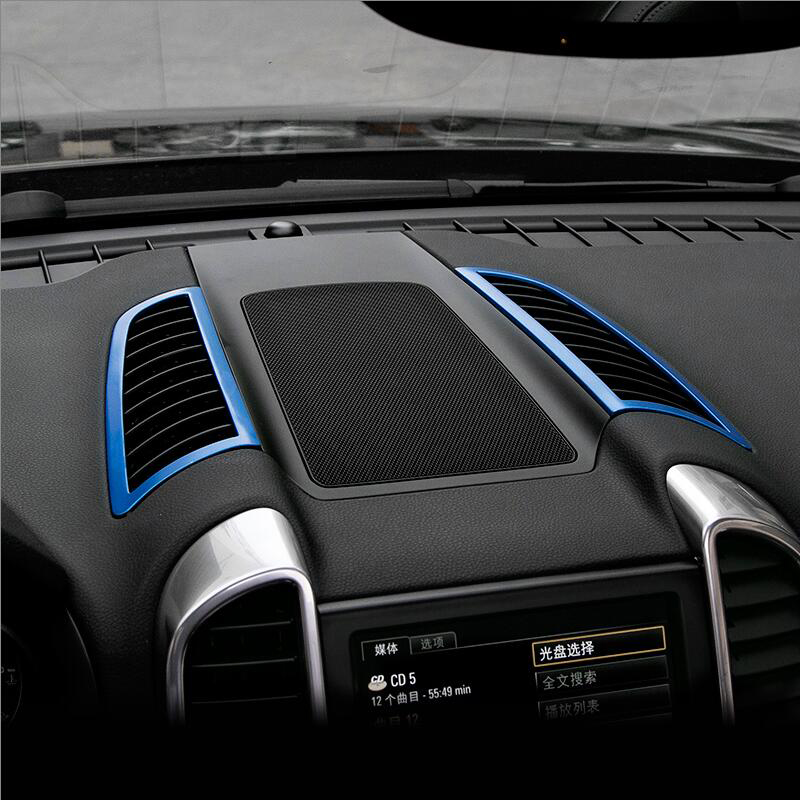 Chrome air conditioning vent frame cover trim interior sequins air outlet panel decorative strip 3D sticker