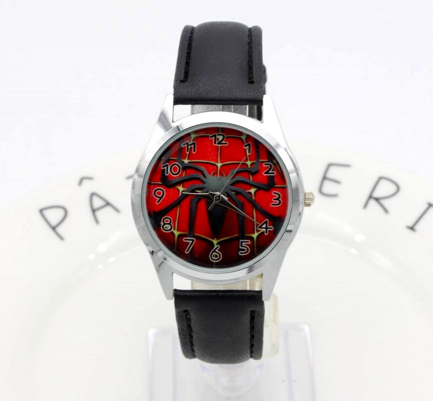 Hot Sale SpiderMan Watch Cute Cartoon Watch Kids Watches Rubber Quartz Spider Man Watch Gift Children Hour Reloj Montre