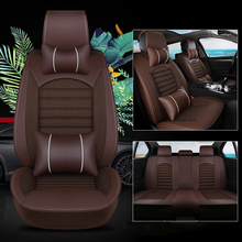 kalaisike Leather plus Flax Universal font b Car b font Seat covers for Volvo all models