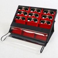 Mordoa Jewelry Sunglasses Accessories Showcase Glasses Display Box Storage Desktop Organizer For 18 Pairs Eyewear Box