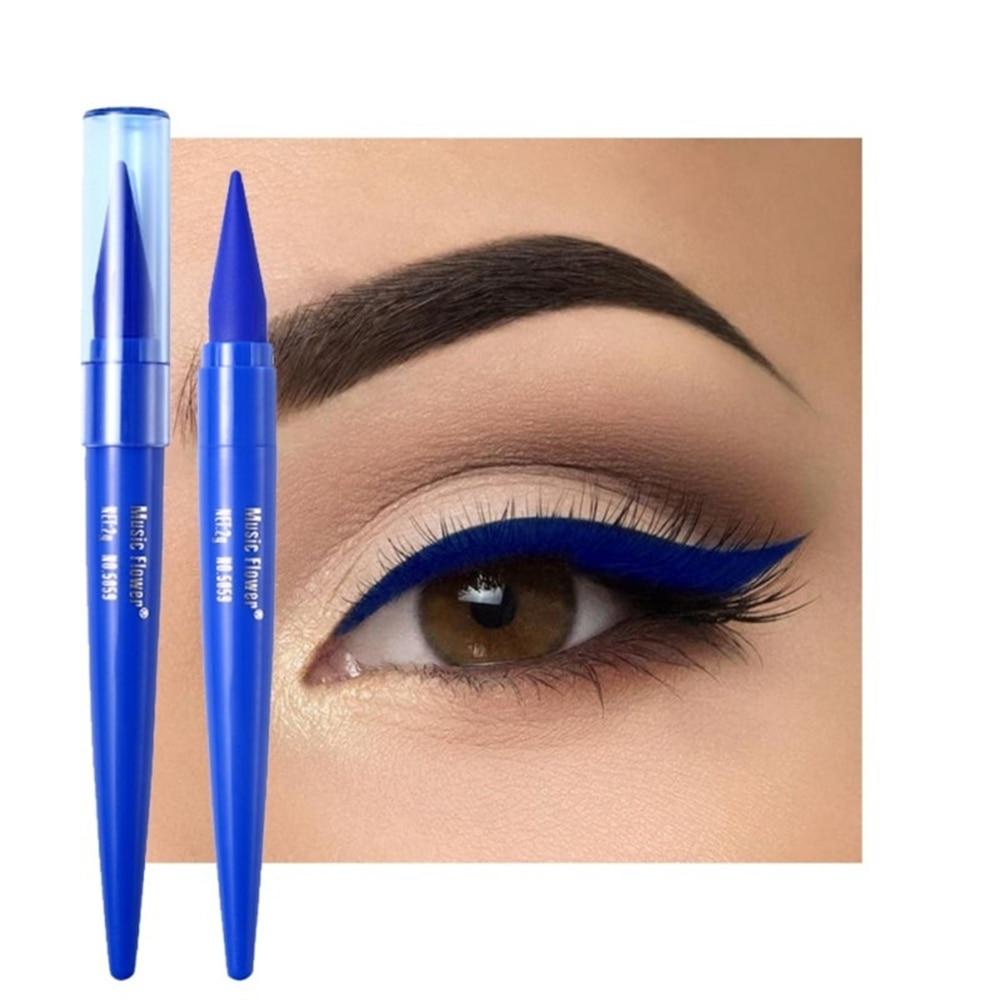 1 pièce Eyeliner imperméable noir/bleu/marron mat séchage rapide crayon Eyeliner résistant aux taches longue durée maquillage des yeux outils de beauté