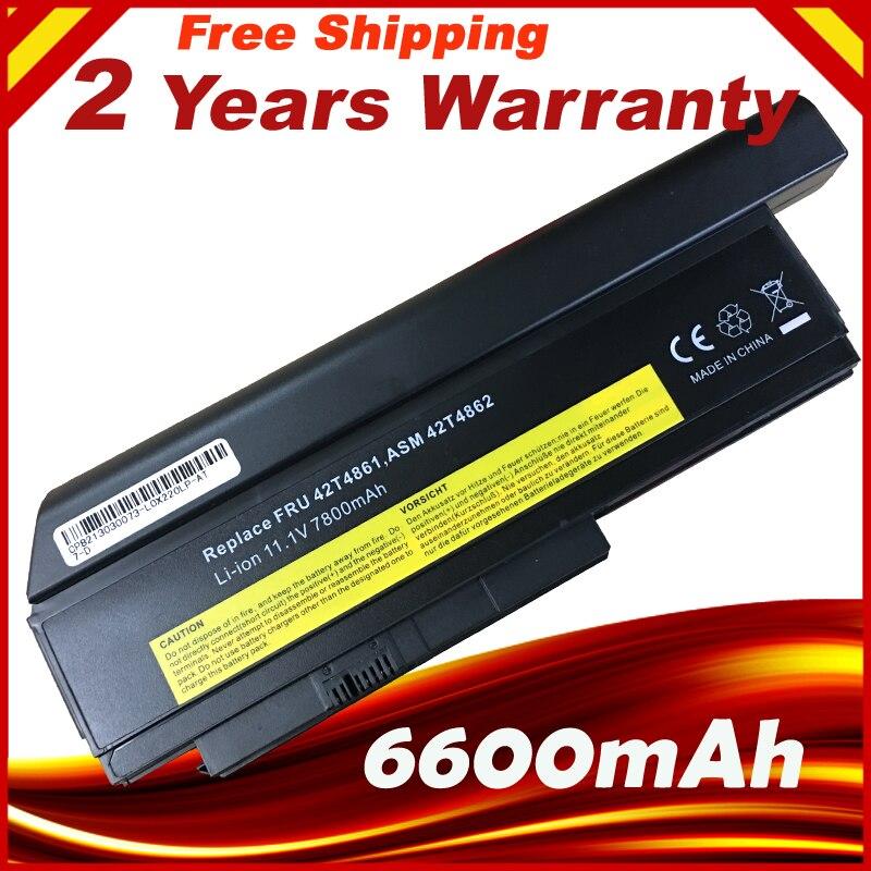 Precio especial, batería para portátil de 9 celdas de 6600mAh para LENOVO ThinkPad X220 X220i 42T4901 42T4940 42T4942 ASM 42T4862 FRU 42T4861