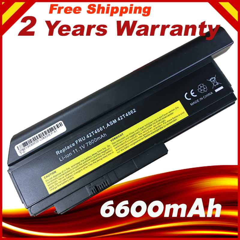 Special Price 6600mAh 9 Cells Laptop Battery For LENOVO ThinkPad X220 X220i  42T4901 42T4940 42T4942 ASM 42T4862 FRU 42T4861