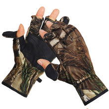 Foreign Trade Heat Sell Winter Bionics Camouflage Glove Windbreak Keep Warm Tactic Army Fans Hunting 2018 pu outdoor gloves(China)