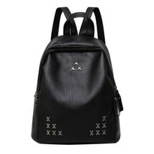 Women Backpack Fashion Designer High Quality PU Rivet Women Bag School Bags Large Capacity Backpacks Travel Bags